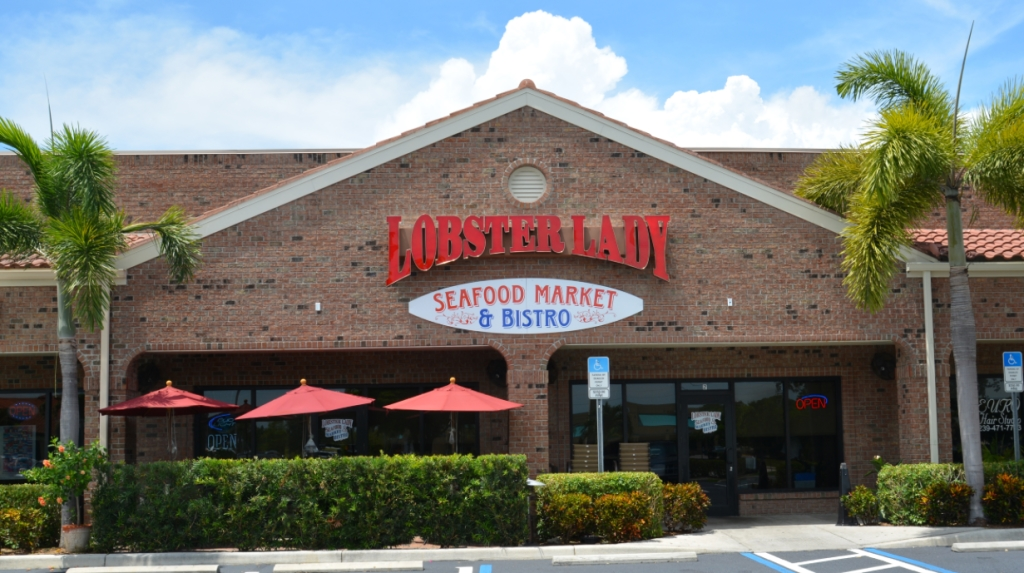 Lobster lady seafood market and bistro ferienvilla for Lobster house fish market